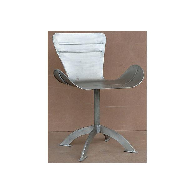 Artist-Sculpted Industrial Aluminum Chair - Image 2 of 9