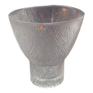 Vintage 1990s Valto Kokko Ahlstrom Iittala Finland Tuuli Glass Vase For Sale
