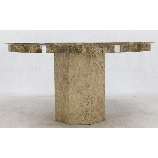 Mid-Century Modern Mid-Century Modern Round Marble Dining Table For Sale - Image 3 of 9