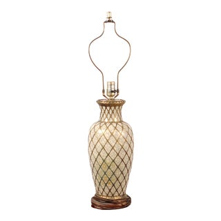 Late 19th Century Japanese Meiji Period Awata Earthenware Vase as Lamp For Sale