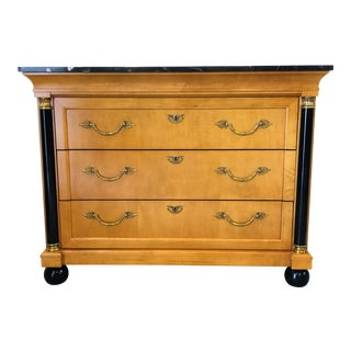 20th Century Empire Thomasville Grand Classics Marble Top Chest of Drawers For Sale
