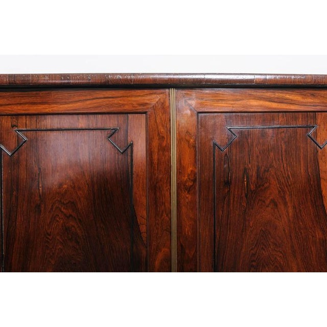 Brown 19th Century English Regency, Two-Door Cabinet, Rosewood with Doré Bronze Mount For Sale - Image 8 of 9