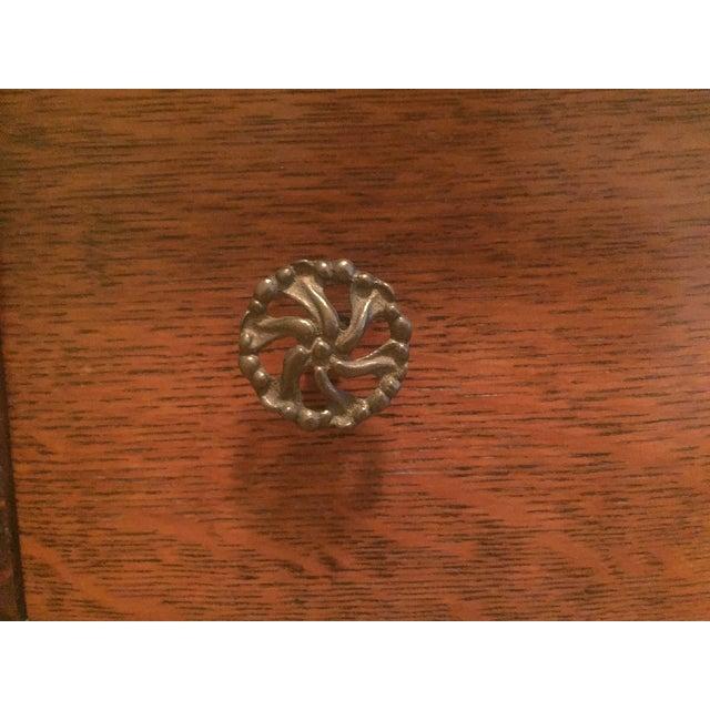 1920s Tiger Oak Dresser For Sale - Image 5 of 7