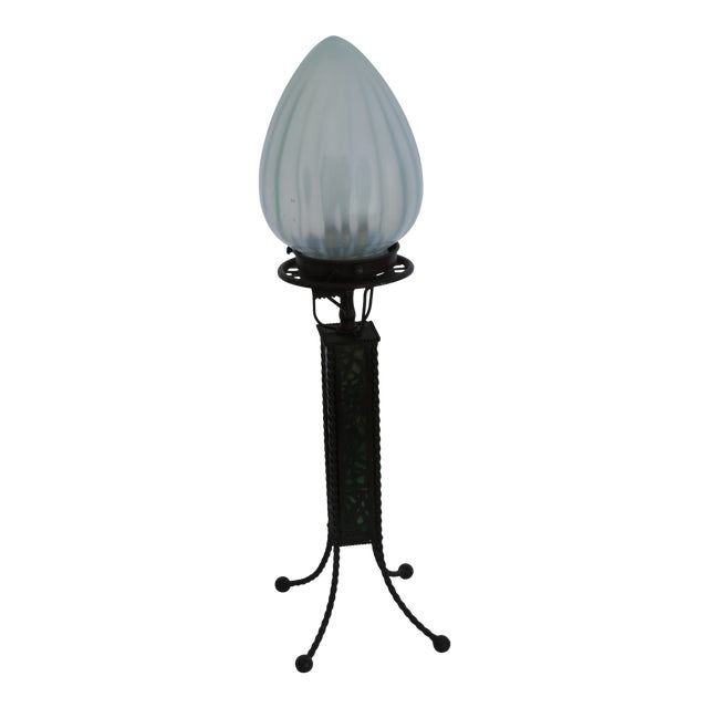 Tiffany Style Lamp, New Glass Re-Wired For Sale