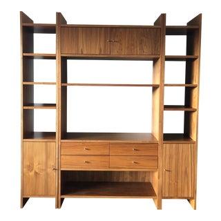 Room & Board Walnut Wall Cabinet Bookcase