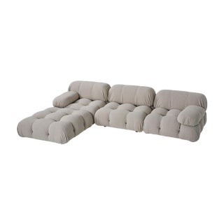 Camaleonda Modular Sofa in Grey Boucle by Mario Bellini For Sale
