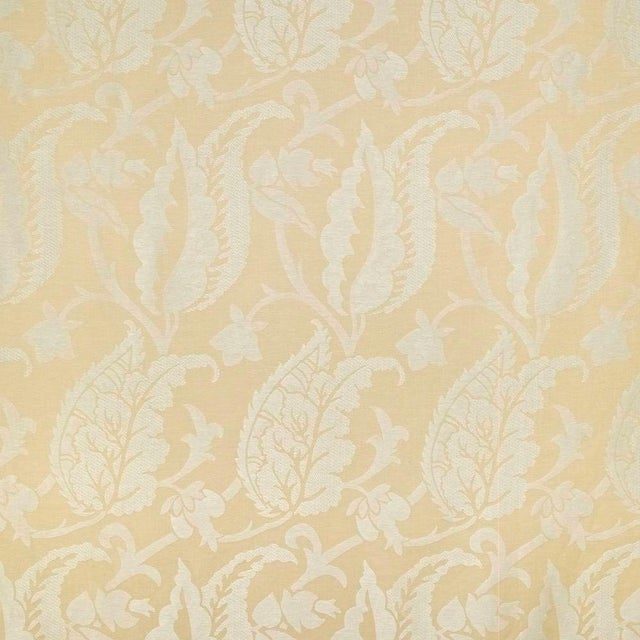 Sample, Suzanne Tucker Home Jacqueline Linen Blend Jacquard in Straw For Sale