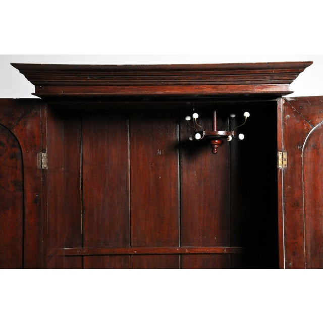 Brown British Colonial Victorian Armoire For Sale - Image 8 of 11