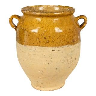 Vintage French Terracotta Confit Pot For Sale