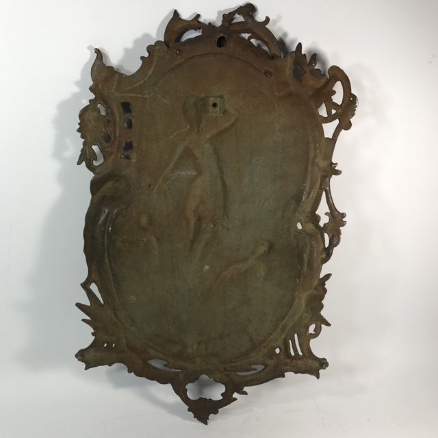 Antique Gilded Bronze Plaque For Sale - Image 11 of 11
