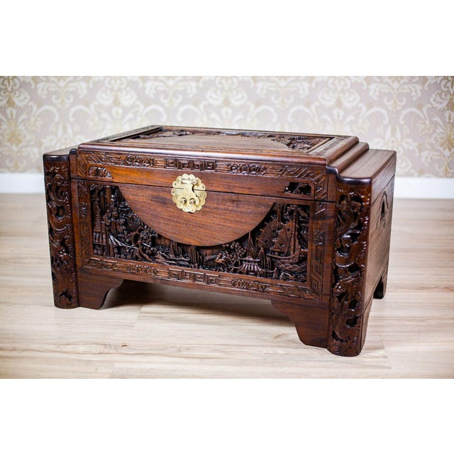 We present you an oak chest from the 1930s. The lid and the front of the chest are ornate with beautiful carving that...