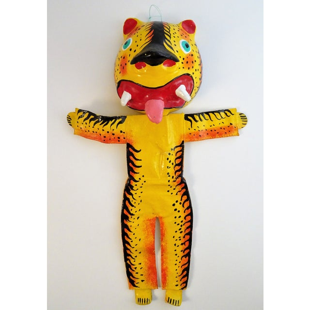 Hand Painted Tiger Sculpture For Sale - Image 11 of 11