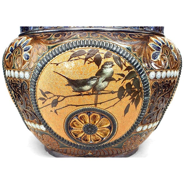 Early 20th Century Arts and Crafts Royal Doulton Lambeth Pot For Sale - Image 5 of 8