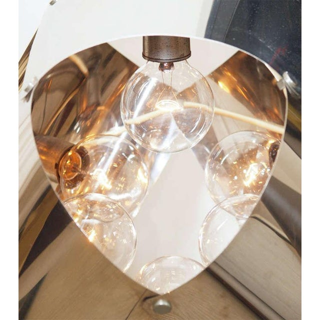 Chromed Metal Sculptural Table Lamp - Image 3 of 11