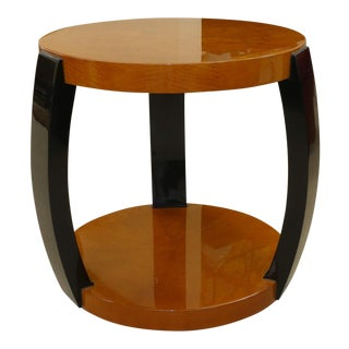 Mid-Century Enrique Garcel Lacquered Wood Side Table For Sale