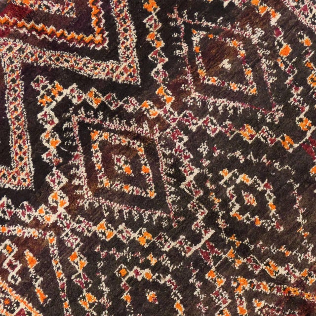 Berber Tribes of Morocco Vintage Beni M'Guild Moroccan Rug - 06'07 X 11'07 For Sale - Image 4 of 8