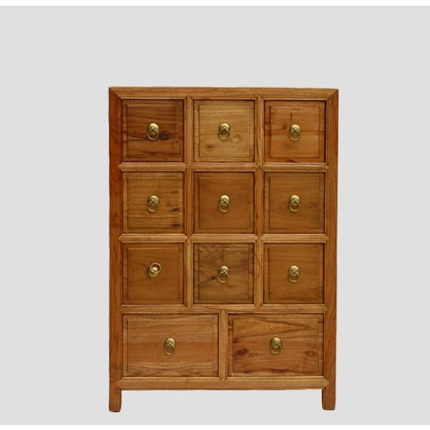 This traditional Chinese medicine cabinet is perfect for storing CDs, small items, or as a decorative piece in living...