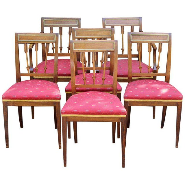 Set of Six Continental Neoclassical Dining Chairs For Sale - Image 10 of 10
