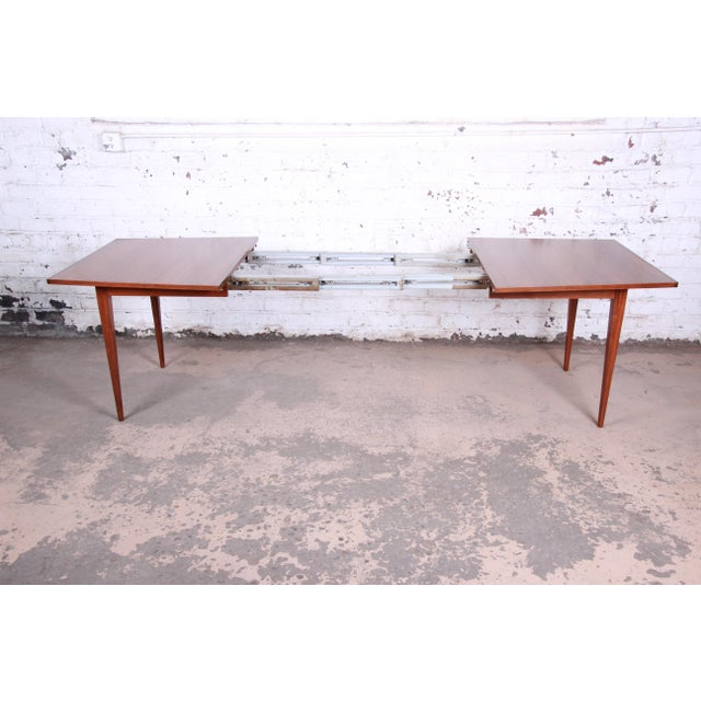 Kipp Stewart for Calvin American Design Foundation Walnut and Rosewood Boat-Shaped Extension Dining Table For Sale In South Bend - Image 6 of 13