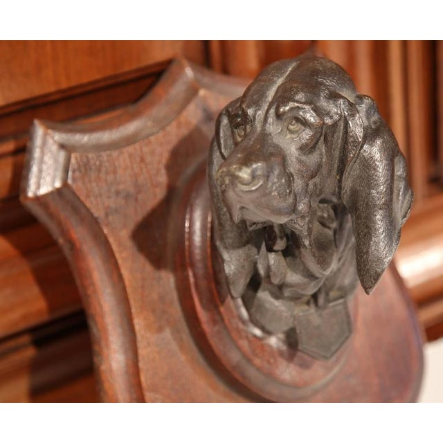 19th C. French Bronze Dog Sculpture - Image 6 of 7