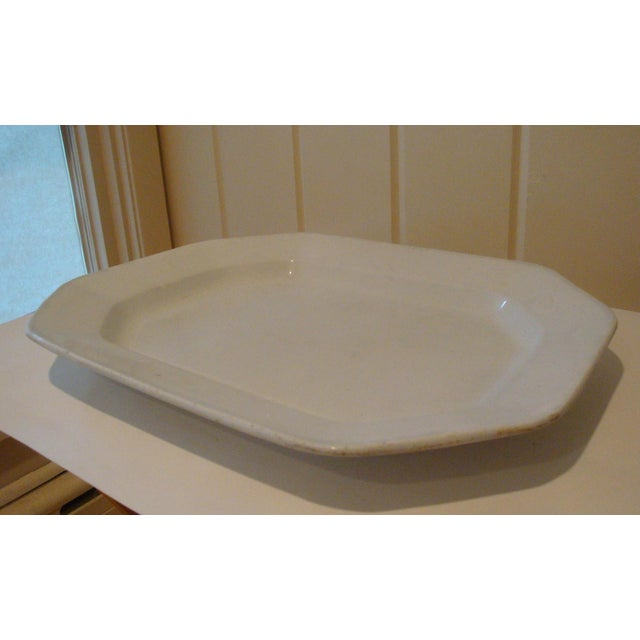 Antique English Ironstone Serving Platter - Image 3 of 4