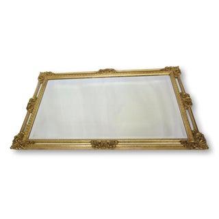 La Barge Rectangular Gold Acanthus Mirror