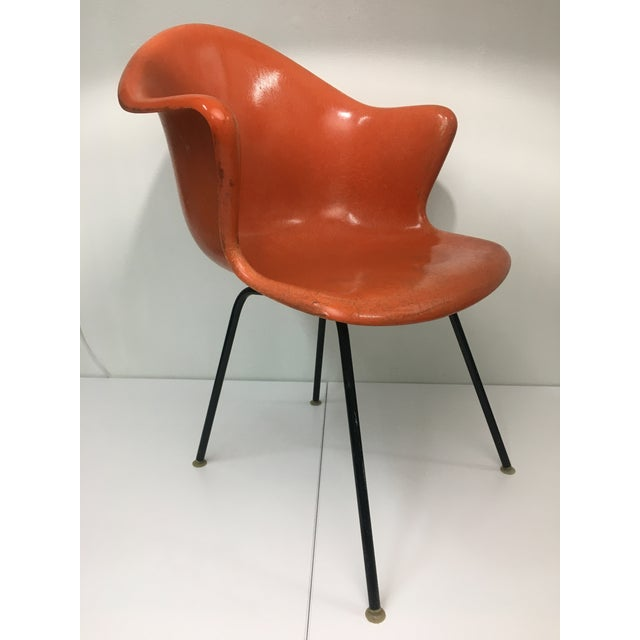 Mid-Century Modern Mid-Century Modern Burnt Orange Shell Chair by Cole Steel For Sale - Image 3 of 12
