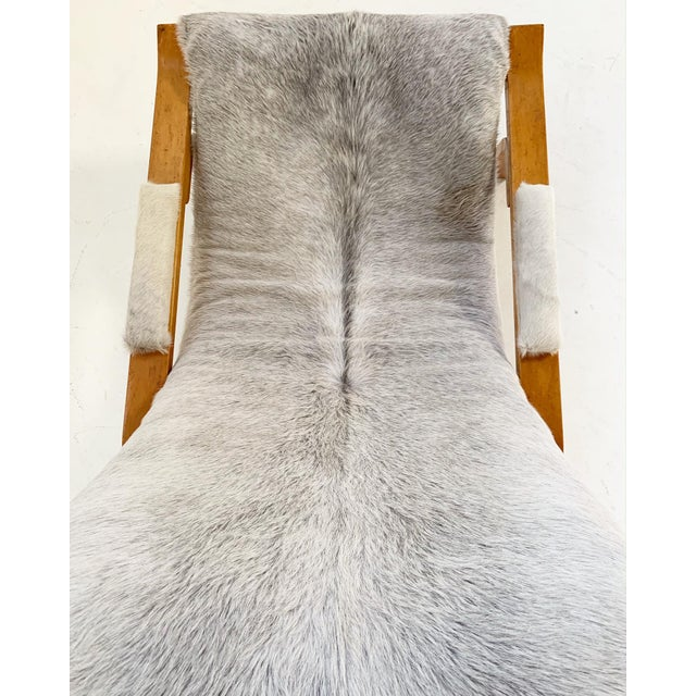 Harvey Probber Suspension Chair Restored in Brazilian Cowhide For Sale - Image 11 of 12