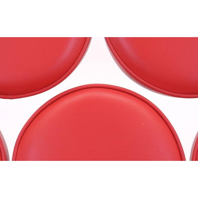 1950s Red Leather George Nelson for Herman Miller Marshmallow Sofa For Sale - Image 5 of 8