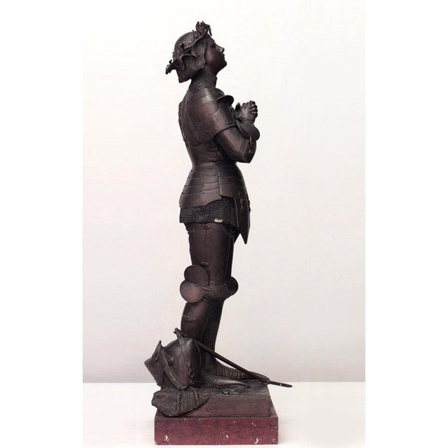 Figurative French Patinated Metal Joan of Arc Figure by Mercie For Sale - Image 3 of 4