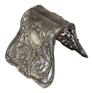 Antique Christofle France Silver Plate Asparagus Clamp For Sale