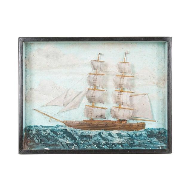 Textile English 19th Century Nautical Diorama For Sale - Image 7 of 7