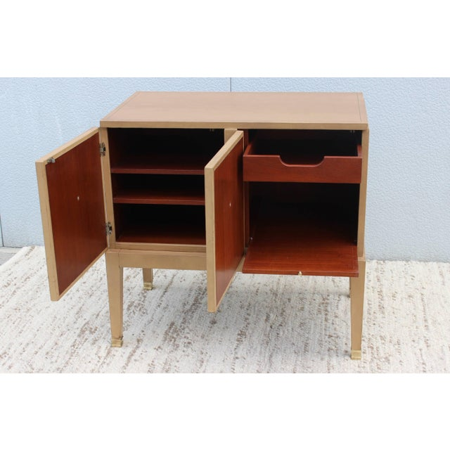 Mid-Century Modern 1940s French Leather Cabinet For Sale - Image 3 of 11