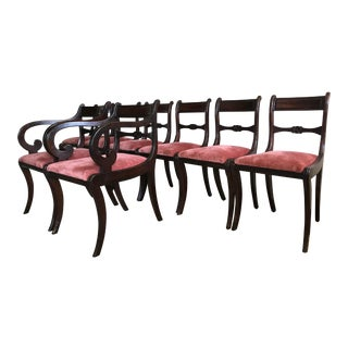Regency Mahogany Dining Chairs - Set of 8 For Sale