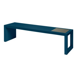Temple Coffee Table in Indigo Blue - Veere Grenney for The Lacquer Company For Sale