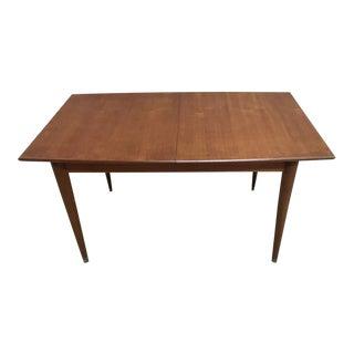 Mid-Century Modern Rectangular Danish Design Extending Dining Table For Sale