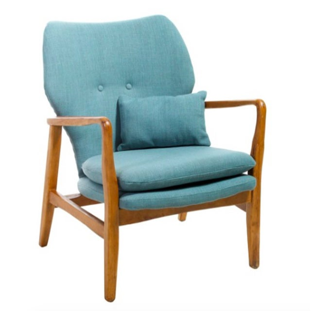 Mid-Century Modern Upholstered Chair - Image 5 of 5