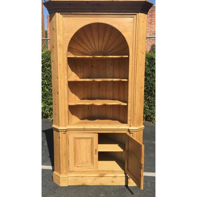Huge Charles & Charles Antique English Pine Corner Cabinet