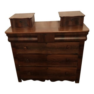 1950s Empire Style Wooden Dresser For Sale