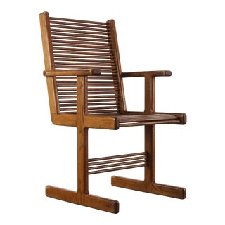 Mid Century Modern Spindle Arm Chair by Stephen Hynson For Sale