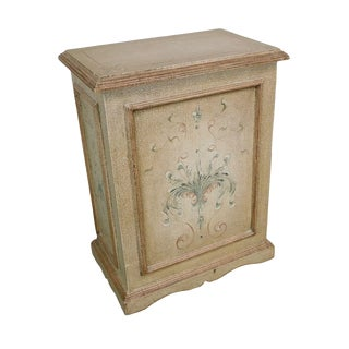 Florentine Style Paint Decorated Lidded Hamper For Sale