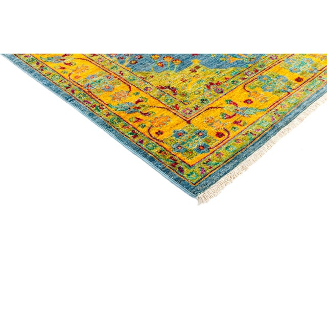 """New Blue Hand-Knotted Rug - 4'1"""" X 6'7"""" - Image 2 of 3"""