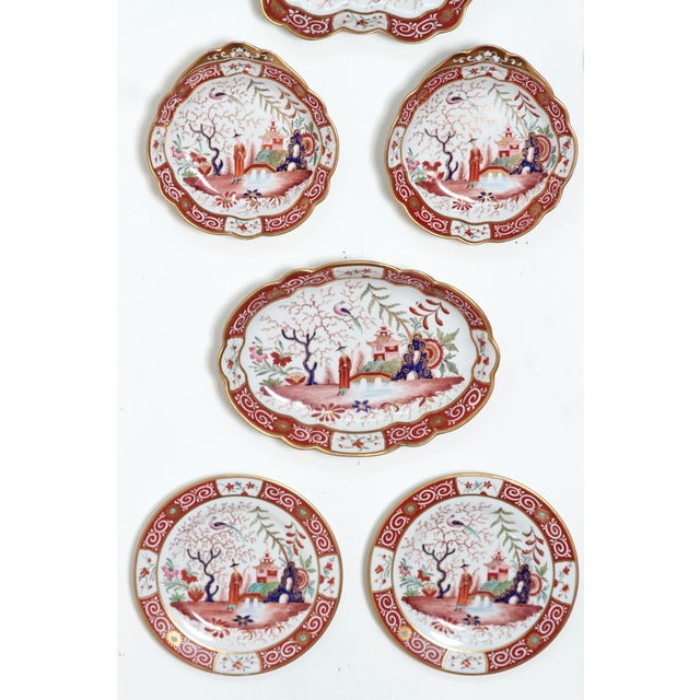 Asian Chamberlain's Worchester, Flight, Barr and Barr Porcelain Dessert Service For Sale - Image 3 of 11