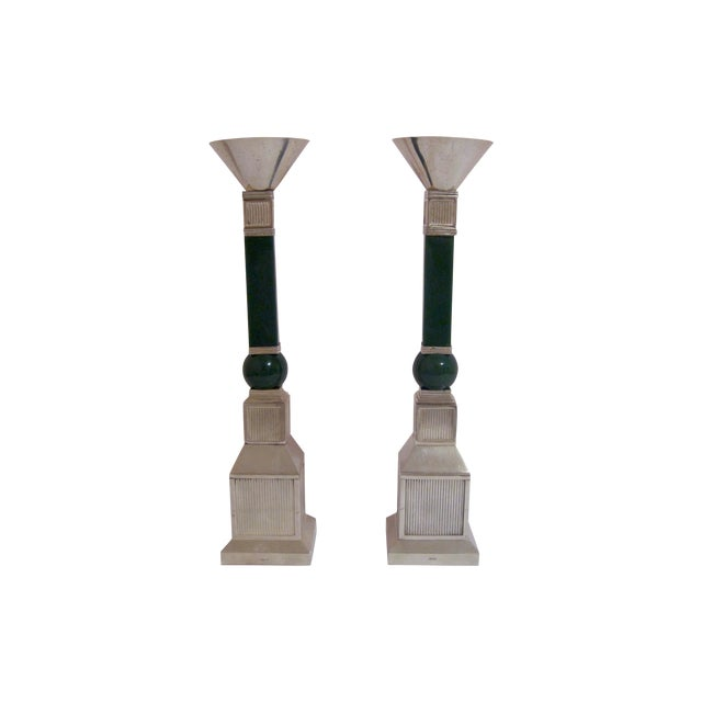 Gucci Mid-Century Silver Plate Candlesticks - Pair - Image 1 of 7