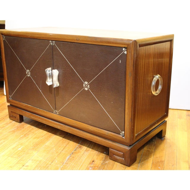 Brown Grosfeld House Art Deco Mahogany Low Cabinets or Nightstands - a Pair For Sale - Image 8 of 13