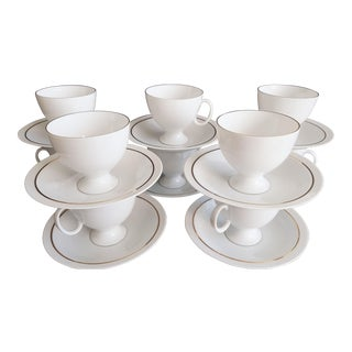 1980 Porcelain Cups and Saucers From Germany Ak Kaizer - Set of 20 For Sale