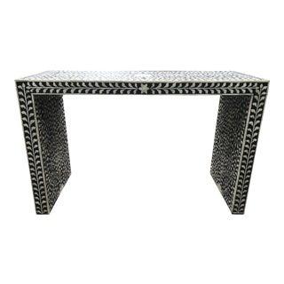 Minimalist Bone Inlay Black & White Console Handmade Furniture