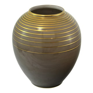 German Metallic Glaze Jar For Sale