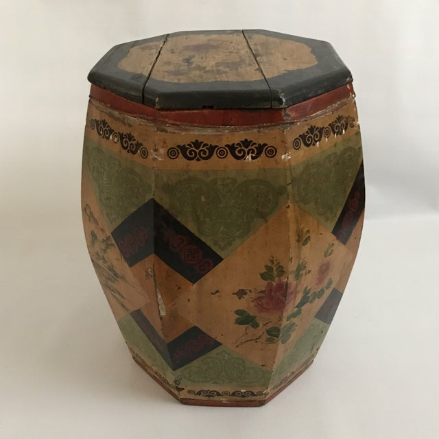 Asian Chinese Octagonal Barrel & Lid For Sale - Image 3 of 11