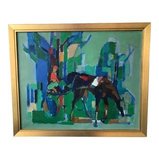 Jean Chevolleau Abstract Horse Painting For Sale
